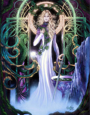 Art Print featuring the mixed media  The Return Of Ithwenor 2 by Curtiss Shaffer