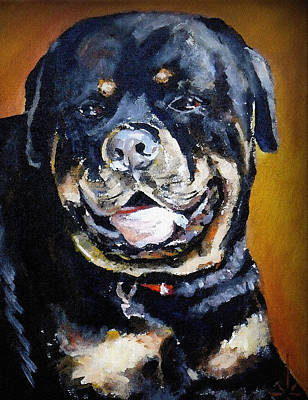 Painting -  The Rottweiler by Jodie Marie Anne Richardson Traugott          aka jm-ART