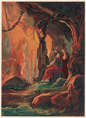The Ruler Of The Underworld Art Print by Mary Evans Picture Library