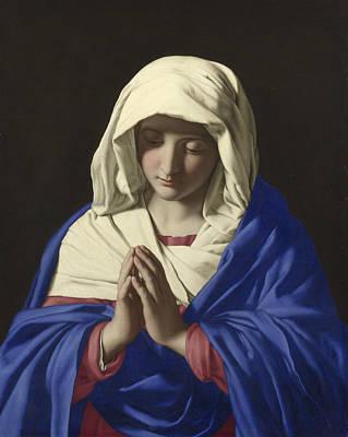 The Virgin In Prayer Art Print by Sassoferrato