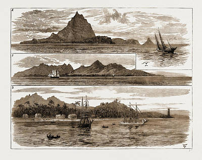 Lighthouse Drawing -  The Volcanic Eruption At Java, Indonesia by Litz Collection