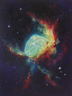 Marie Green Painting -  Thor's Helmet Ngc 2359 by Marie Green