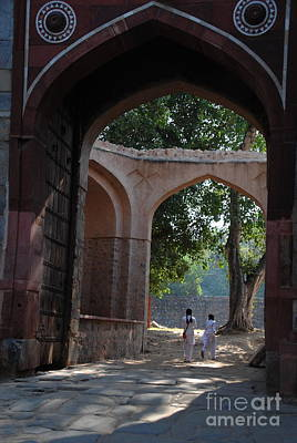 Photograph -  Humayun's Tomb -through The Arches by Jacqueline M Lewis