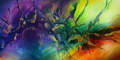 Directional Painting - ' Tingle 3' by Michael Lang
