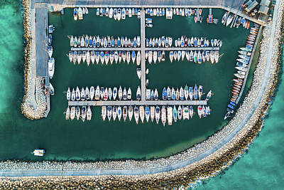 Boat Harbour Wall Art - Photograph - @ Tlv Marina by Ofer Maor