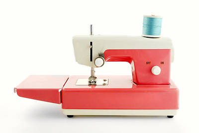 Seamstress Photograph -  Toy Sewing Machine by Jim Hughes