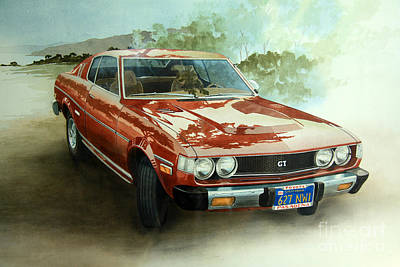 Painting -  Toyota Supra Gt by Frank Townsley