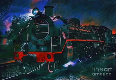 Train Art Print by Andrzej Szczerski