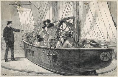 Training Naval Cadets On A  Swinging Art Print by  Illustrated London News Ltd/Mar