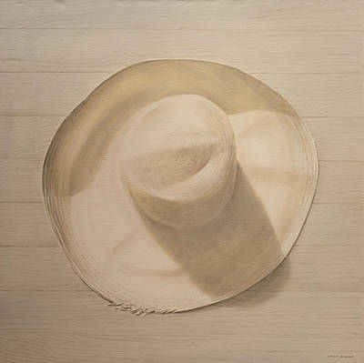 Still Life Painting -  Travelling Hat On Dusty Table by Lincoln Seligman