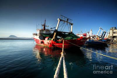 Travel -  Trawlers at Patras  by Rob Hawkins