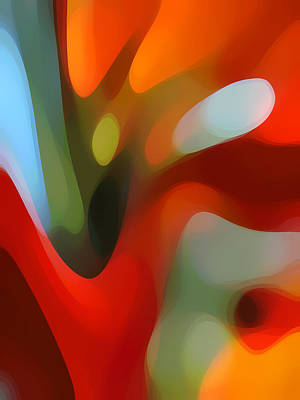 Abstract Forms Painting -  Tree Light 2 by Amy Vangsgard
