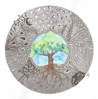 Celtic Knot Painting -  Tree Of Life by Terry Fleckney