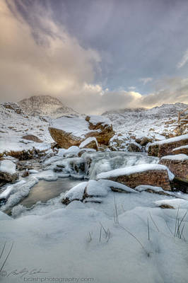Photograph -  Tryfan Snow And Ice by Beverly Cash