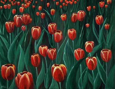 Holland Drawing -  Tulip Festival by Anastasiya Malakhova