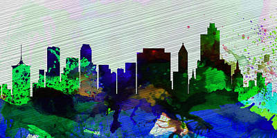 Tulsa City Skyline Art Print by Naxart Studio