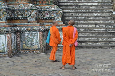 Two Monks Art Print by Michelle Meenawong