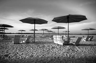 Umbrellas On The Beach Art Print