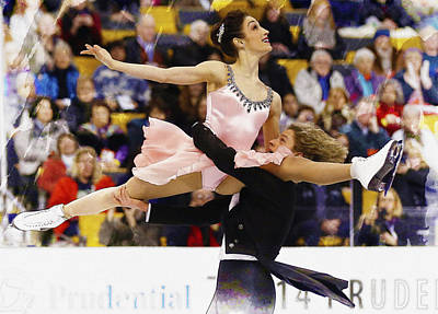 Charlie White Dances With His Partner Meryl Davis Original by Don Kuing
