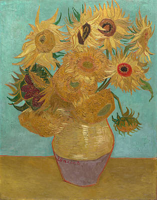 Painting -  Vase With Twelve Sunflowers by Vincent van Gogh