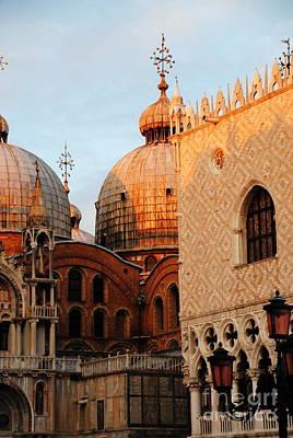 Photograph -  Venetian Symbols by Jacqueline M Lewis