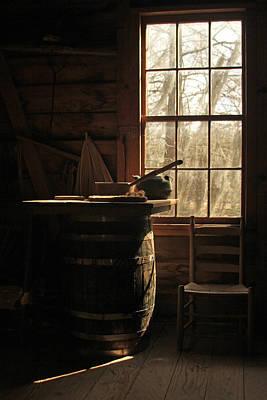 Photograph -  Vermilionville Lafayette Louisiana Wood Barrel by Ronald Olivier