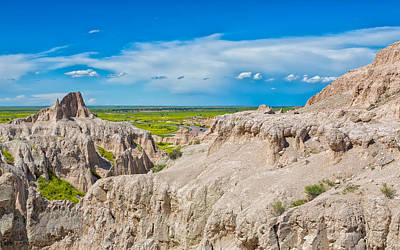 Photograph -  View From The Badlands by John M Bailey