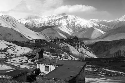 Kali Photograph -  Village Of Jharkot - The Himalayas by Aidan Moran