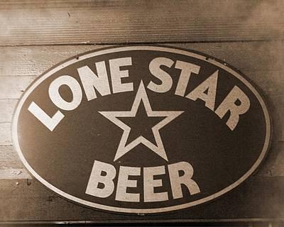 Vintage Sign Lone Star Beer Art Print