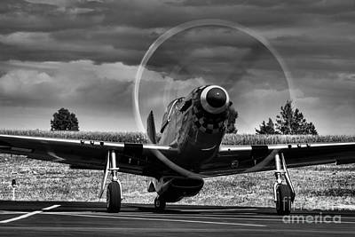 Warming Up  P-51 Art Print by Steven Reed