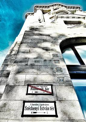 Budapest Hungary Hotels Photograph -  Way The Wind Blows - Four Season Hotel Budapest Hungary by Marianna Mills