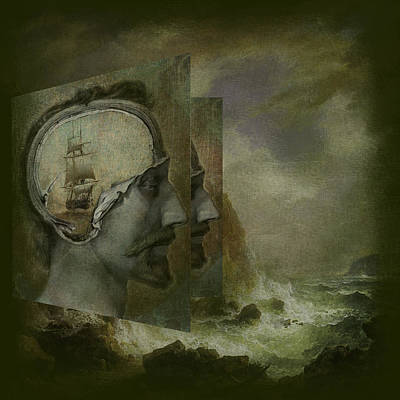 Outerspace Patenets Royalty Free Images -  When a Mans Thoughts Turn Toward the Sea Royalty-Free Image by Jeff Burgess