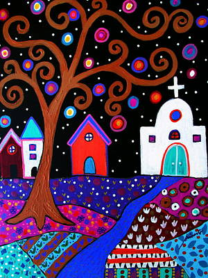 Painting -  Whimsical Town by Pristine Cartera Turkus