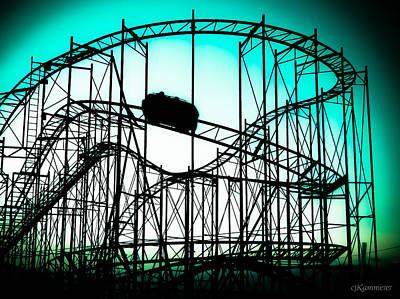 Photograph -  Wild Cat Roller Coaster  by Colleen Kammerer