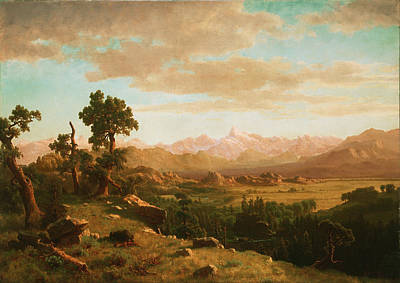 Wind River Country Painting - ?Wind River Country by Albert Bierstadt