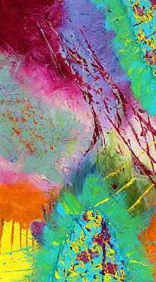 Modern Abstract Diptych Part 1 Art Print