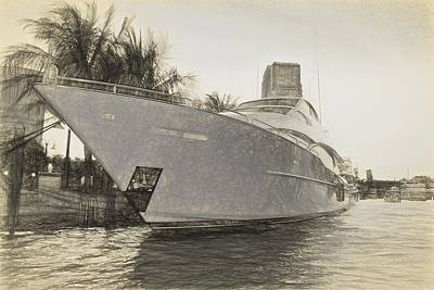 Photograph -  Yacht On The Water by Alice Gipson