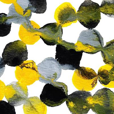 Painting -  Yellow And Gray Interactions 1 by Amy Vangsgard