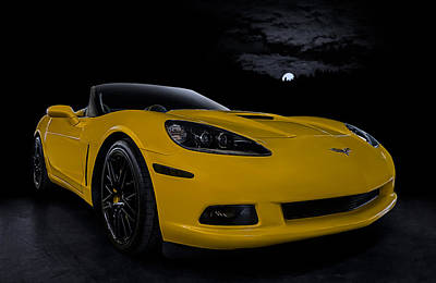 Moonlight Digital Art -  Yellow Z51 by Douglas Pittman