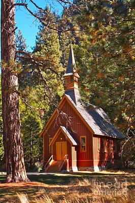 Little Chapel Photograph -  Yosemite Valley Chapel by Lisa Billingsley