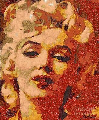 Marilyn Monroe Digital Art -  You Remember M M  by Dragica  Micki Fortuna