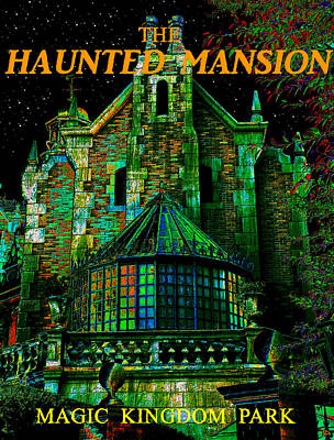 Haunted Mansion Painting - Haunted Mansion Poster Work A by David Lee Thompson