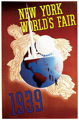 Stature Painting - New York Worlds Fair by John Atherton