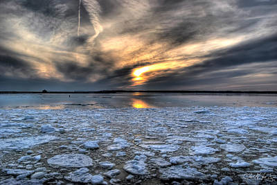 Lake Erie Photograph - 0011 Chilling Spring Sunsets 2014 Series by Michael Frank Jr