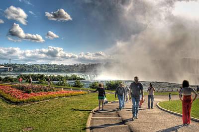 Niagara Falls Photograph - 0014 Niagara Falls Misty Blue Series by Michael Frank Jr
