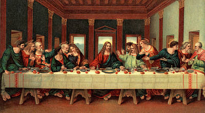 0030s The Last Supper After Leonardo Da Art Print