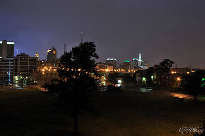 Night Photograph - 004 When Lightening Strikes by Michael Frank Jr