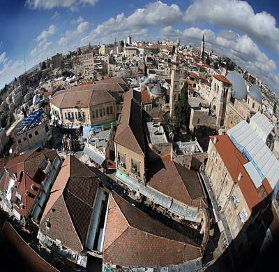005 Globus Of Jerusalem Art Print by Alex Kolomoisky