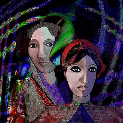 Inu Digital Art - 007 - Exotic Ladies  by Irmgard Schoendorf Welch