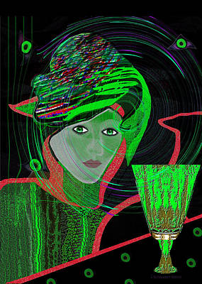 Painting - 010 - Last Drink Tonight by Irmgard Schoendorf Welch